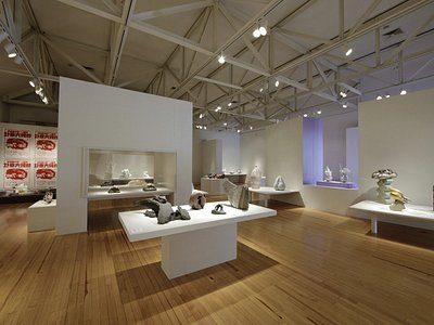 An exhibit at the Schaefer International Gallery