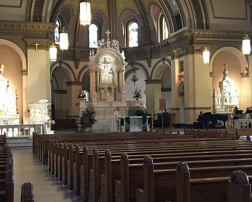 The nave and sanctuary