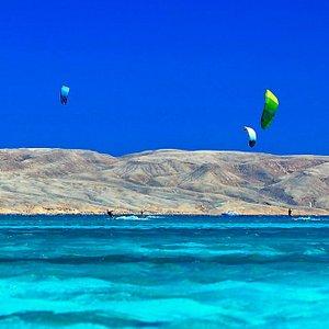 KiteSurf lessons for all levels, Kite equipment rental &storage, Best kite spot in Hurghada, EGY