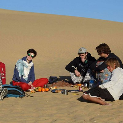 lunch on dunes