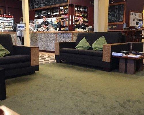 Cafe and lounge area at Lighthouse Petone