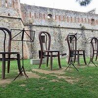 Chair art in La Giostra del Cuore