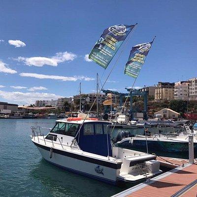 Nos situamos en la parte nueva del puerto pesquero, zona dedicada a los deportes náuticos.