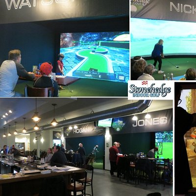 Enjoy golf, mini golf, shooting range, foosball and great bar food.  Something fun for everyone!