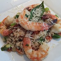Shrimp risotto. Best presentation!
