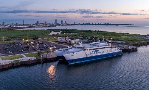 Lake Express high speed ferry Milwaukee Wisconsin Terminal