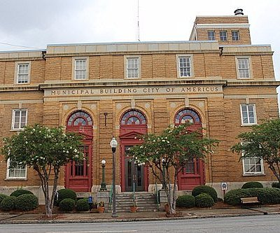 Visitor Center Americus GA - first floor Municipal Building downtown