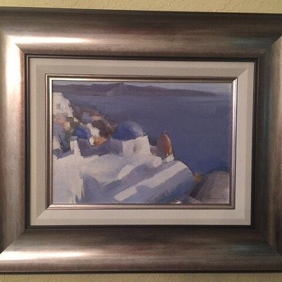 Christophoros is a fabulous artist who captures the stunning beauty of Santorini.We thoroughly e