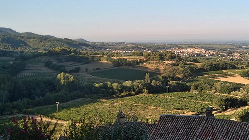 Das wunderschön gelegene Dorf Sablet