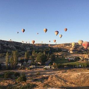 hot air balloon in Capadoccia. July 2017. arranged by Eyup Karapinar of True Blue Tours Istanbul