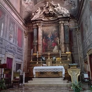 Altare : Pala di M.A.Franceschini Madonna col Bambino fra i  Santi