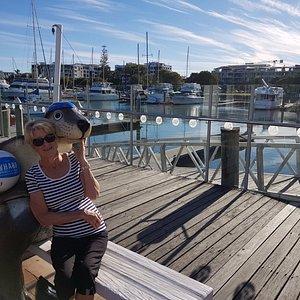 On the wharf