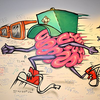 The running brains resembles the excitement you go through in our Escape Rooms :D