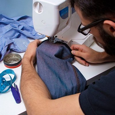 We have 'sew macho', our sewing class for men!