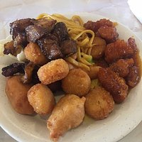 Plate from Esatern Chinese Buffet, Ladysmith, WI