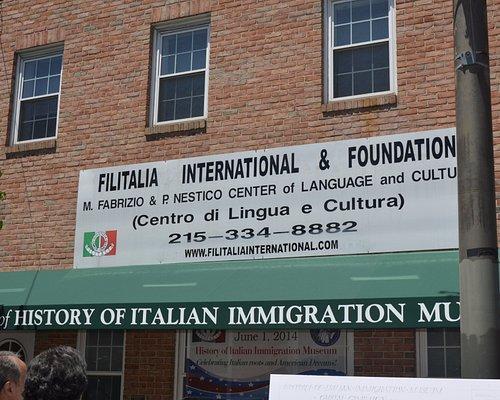 Outside of Filitalia International-History of Italian Immigration Museum.