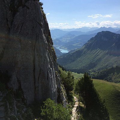 Path around the central rock/mountain.