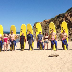 Surf Lesson with happy faces! www.lisbonsurfaris.com