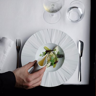 One of the courses from the degustation menu designed by Michelin Starred Chef, Joao Rodrigues.