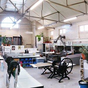 The studio at Edinburgh Printmakers