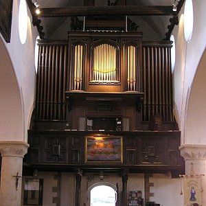 The Bevington organ in the old Pilots gallery