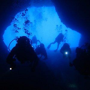"""A unique dive spot - """"the elephant cave"""""""