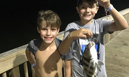 My son caught his first black drum at Jamail Bay Park