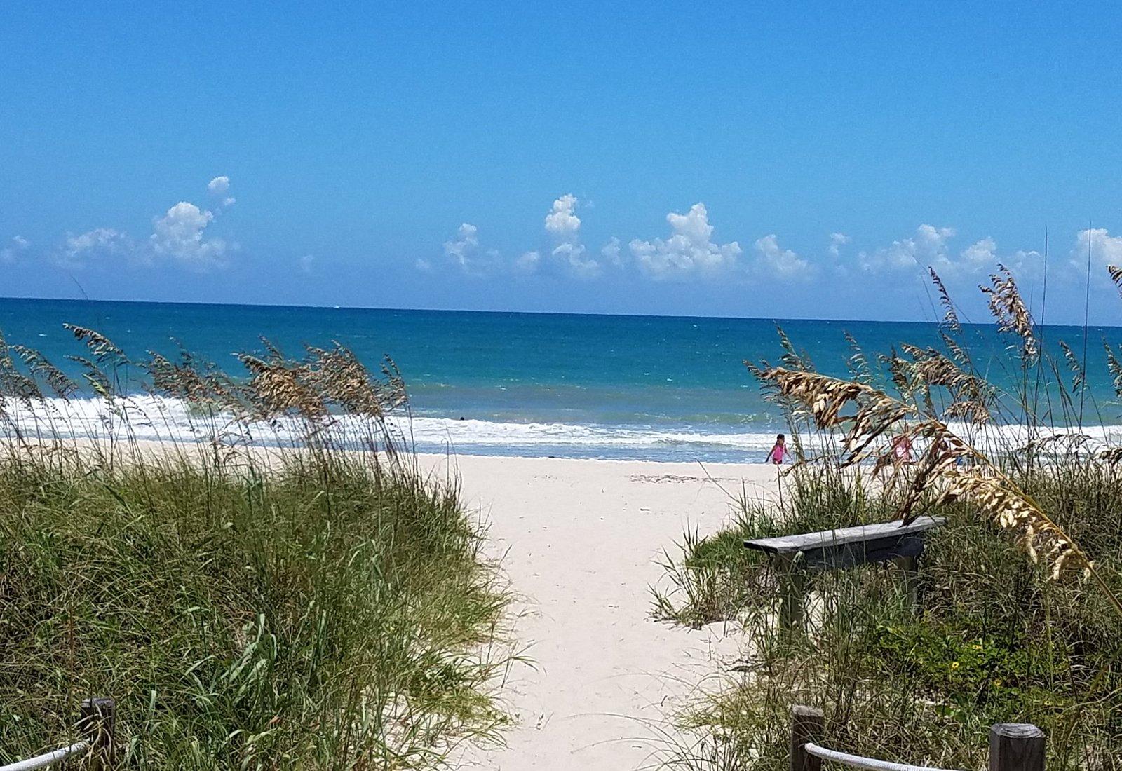 Beach entrance.