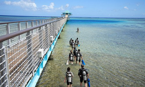 The abundance of sea life makes the Fish Eye Marine Park a popular snorkeling and diving