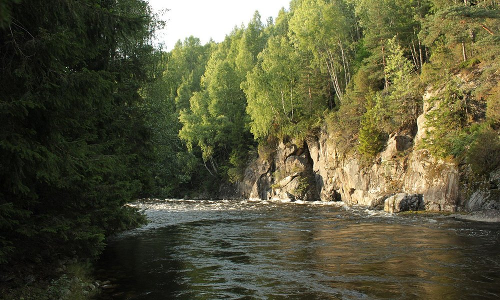 Boelva - Bo mainriver. Lots of nice trails to walk around Bo, along rivers or in forests.