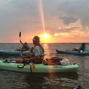 Another beautiful sunset on our Sunset Kayak Eco-Tour.