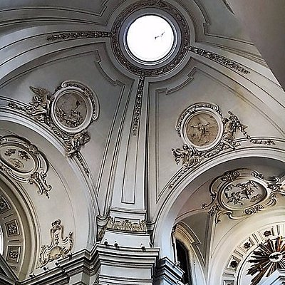 Pesaro, ex Chiesa della Maddalena: interno, la cupola