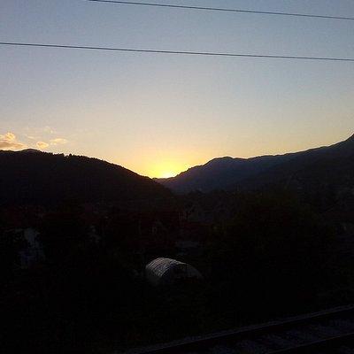 Sonnenuntergang im Bereich Kolasin
