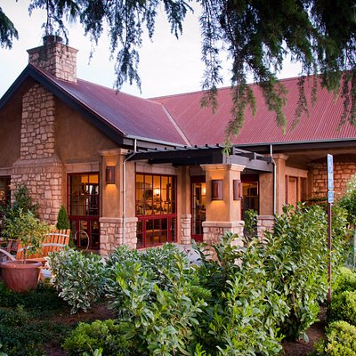Our Tasting Room is surrounded by beautiful gardens and estate vineyards.