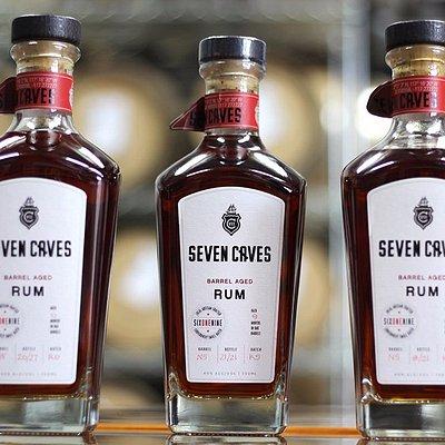 Bottles of Seven Caves Rum