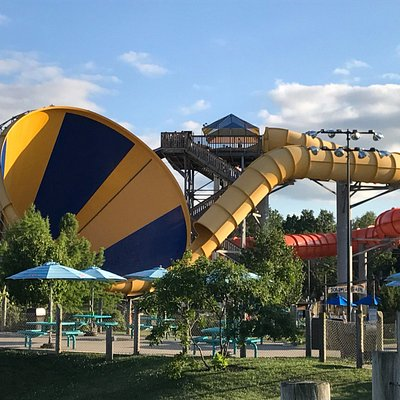 Dropping you 55 ft. to reach of 24 mph, the Cyclone dumps riders in the world's largest funnel.