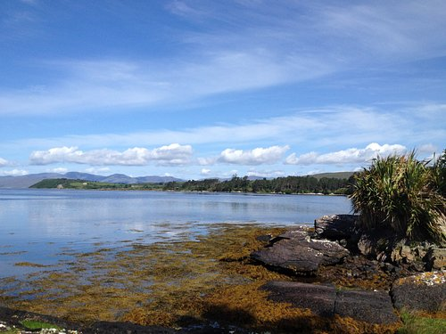 View back towards the Kenmare river from the Ladies bathing place.