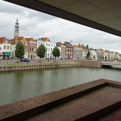 -uitzicht vanaf de entree;-Bibliotheek van Zeeland-Middelburg-