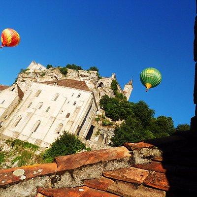 Globos aerostáticos en Rocamadour