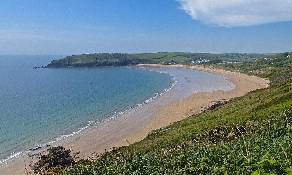Freshwater East Beach on the Pembrokeshire Coast, West Wales