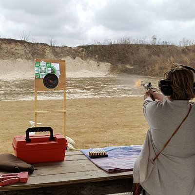 My mother shooting.