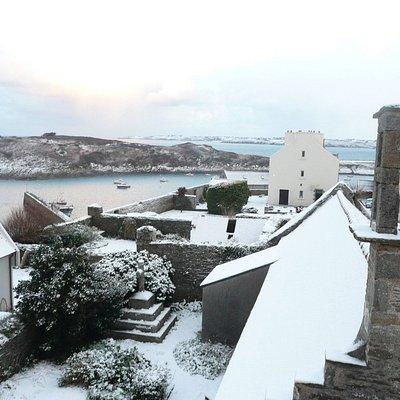 Dom Michel sous la neige