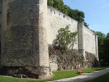 Rempart de la citadelle de Loches