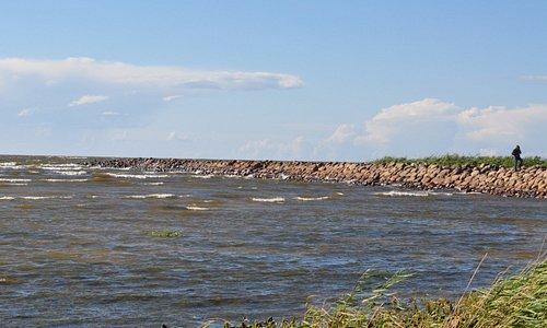 Вид со стороны песочного берега