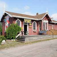 The Fenelon Station Gallery Co-op is located in the historic Fenelon Falls Train Station.
