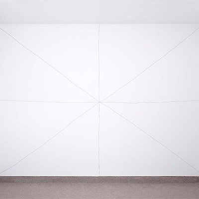 Recent Sol Lewitt Wall Drawing in our side room