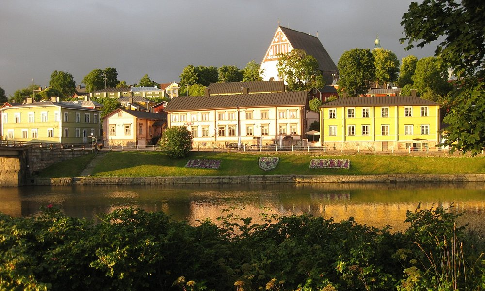 Looking across the river to the old town of Porvoo.