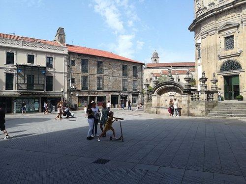 plaza de la peregrina en Pontevedra capital