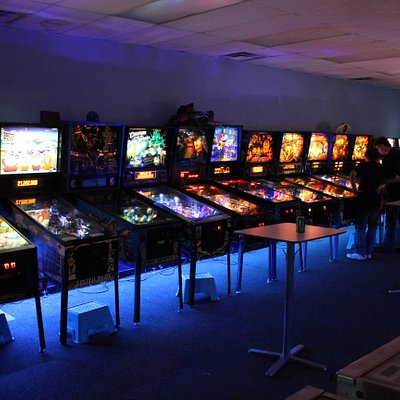 Flippin' Great Pinball in Railroad Square. About 35 pinball and arcade games available to play v