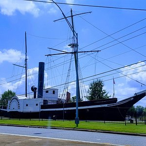 The USS Water Wich outside the entrance to the museum